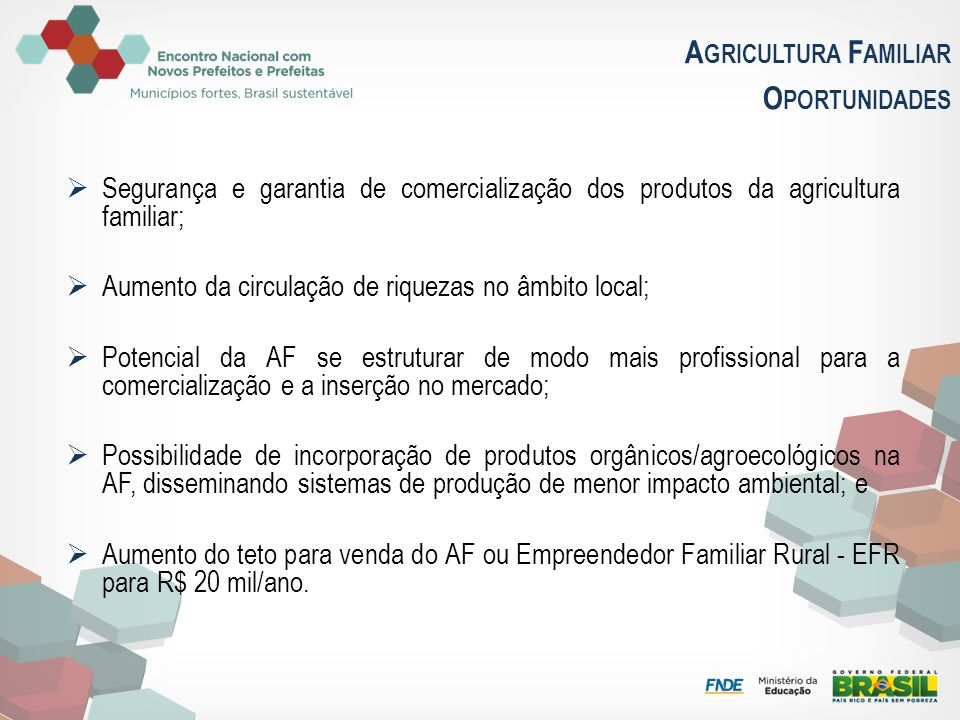 Agricultura Familiar Oportunidades