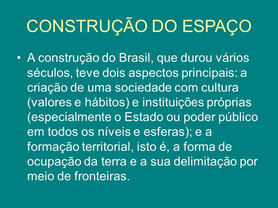 CONSTRUÇÃO DO ESPAÇO