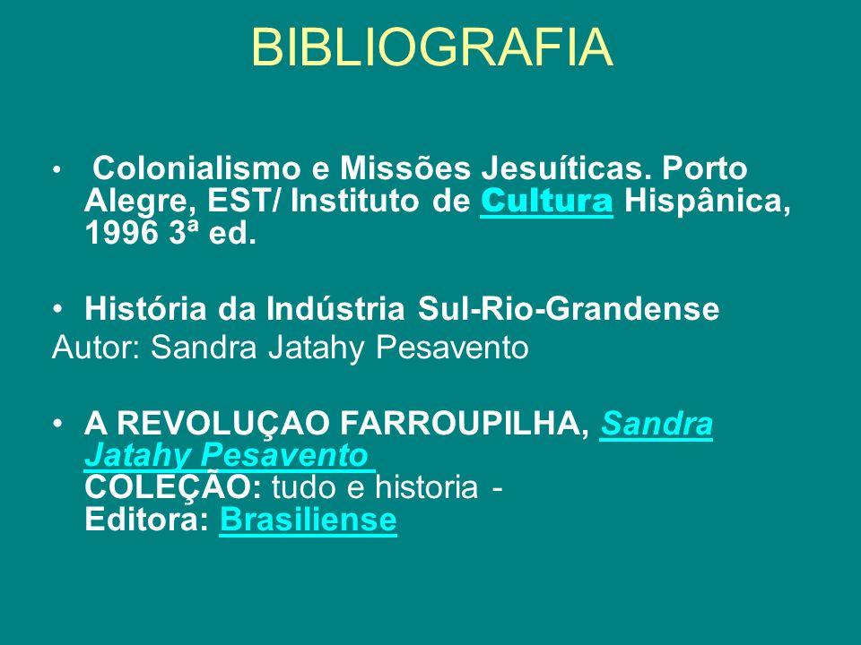 BIBLIOGRAFIA História da Indústria Sul-Rio-Grandense
