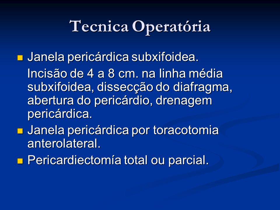 Tecnica Operatória Janela pericárdica subxifoidea.