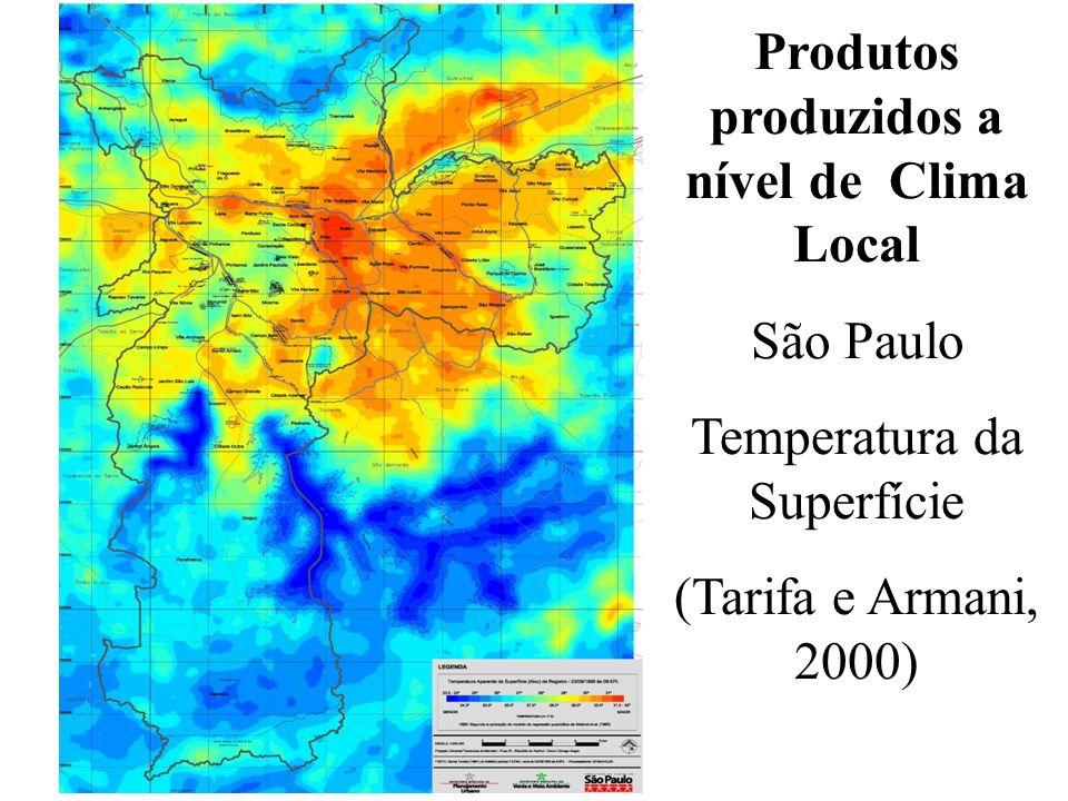 Produtos produzidos a nível de Clima Local