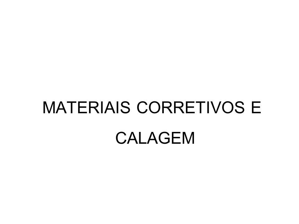 MATERIAIS CORRETIVOS E CALAGEM