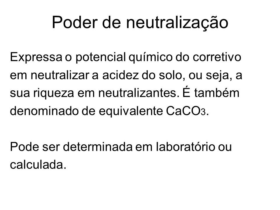 Poder de neutralização