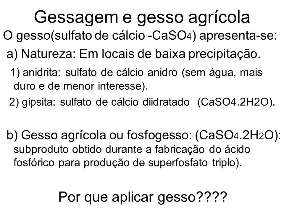 Gessagem e gesso agrícola