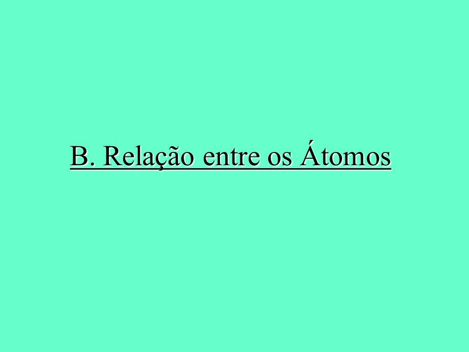 B. Relação entre os Átomos
