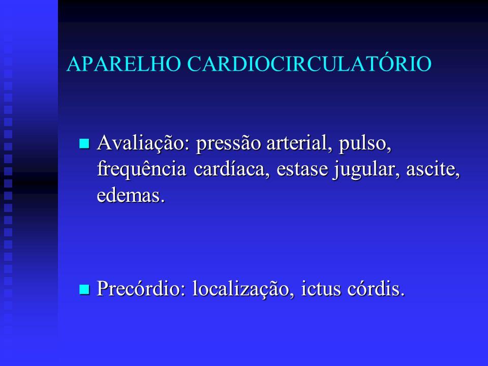APARELHO CARDIOCIRCULATÓRIO