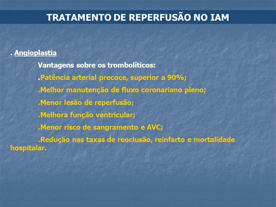 TRATAMENTO DE REPERFUSÃO NO IAM