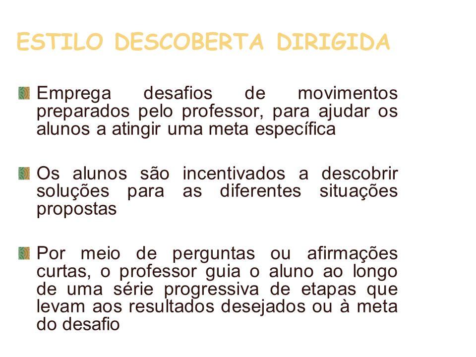 ESTILO DESCOBERTA DIRIGIDA