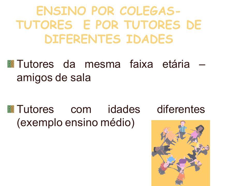 ENSINO POR COLEGAS-TUTORES E POR TUTORES DE DIFERENTES IDADES