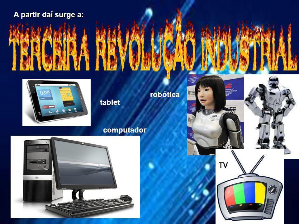 A partir daí surge a: robótica tablet computador TV