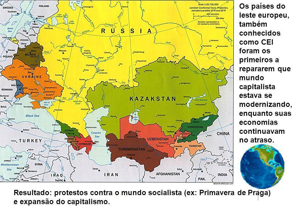 Os países do leste europeu, também conhecidos como CEI foram os primeiros a repararem que mundo capitalista estava se modernizando, enquanto suas economias continuavam no atraso.