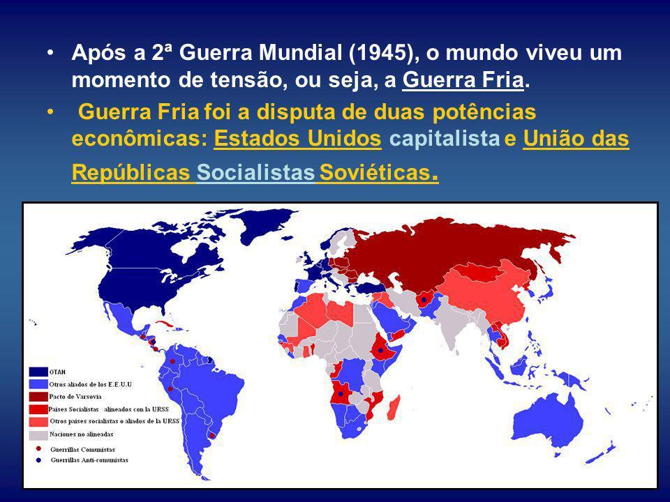 Após a 2ª Guerra Mundial (1945), o mundo viveu um momento de tensão, ou seja, a Guerra Fria.