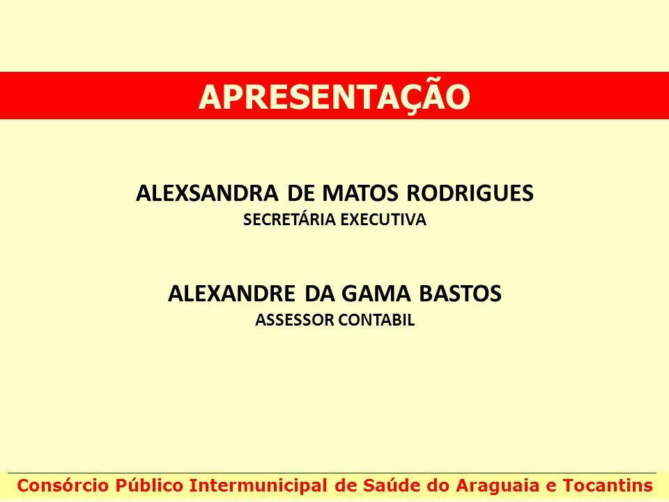 APRESENTAÇÃO ALEXSANDRA DE MATOS RODRIGUES ALEXANDRE DA GAMA BASTOS