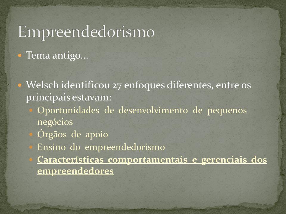 Empreendedorismo Tema antigo...