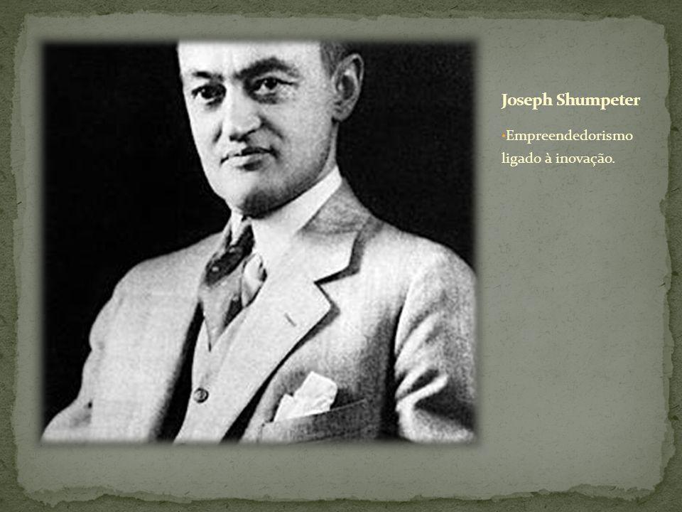 Joseph Shumpeter Empreendedorismo ligado à inovação.