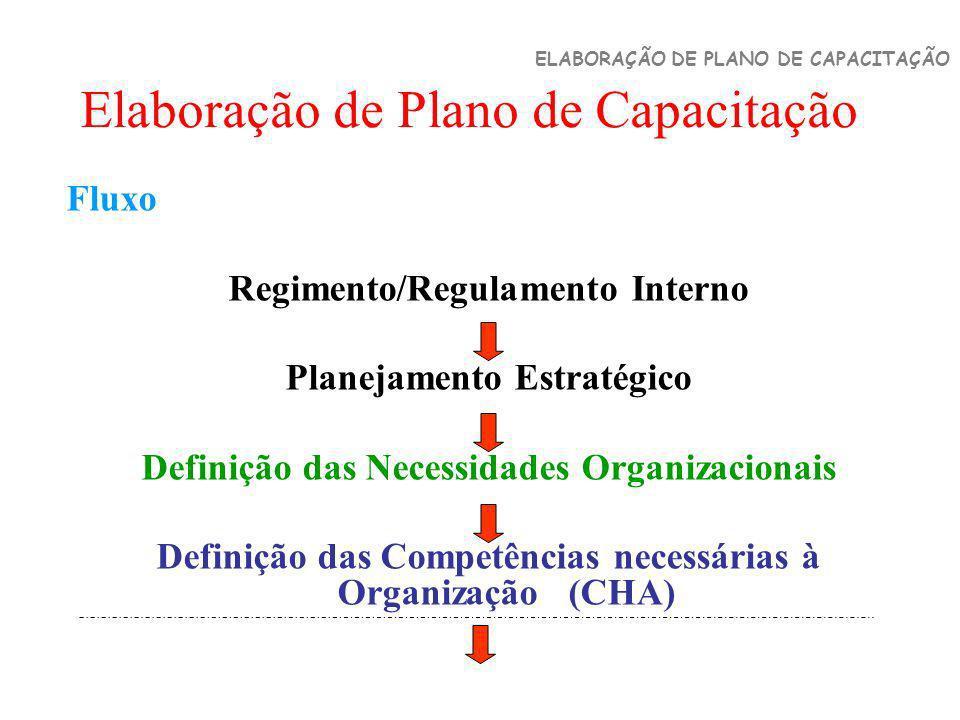 Elaboração de Plano de Capacitação