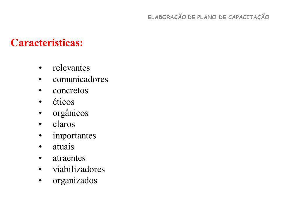 Características: relevantes comunicadores concretos éticos orgânicos