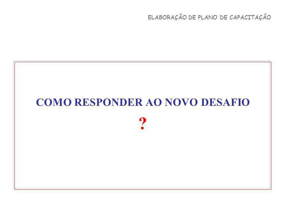 COMO RESPONDER AO NOVO DESAFIO