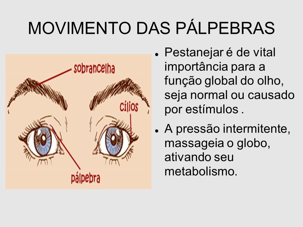 MOVIMENTO DAS PÁLPEBRAS