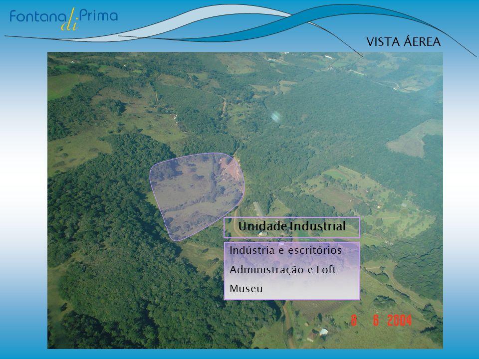 VISTA ÁEREA Unidade Industrial Indústria e escritórios