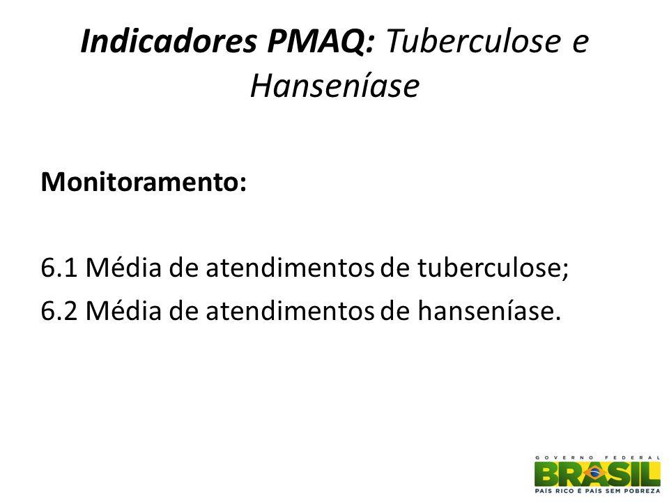 Indicadores PMAQ: Tuberculose e Hanseníase