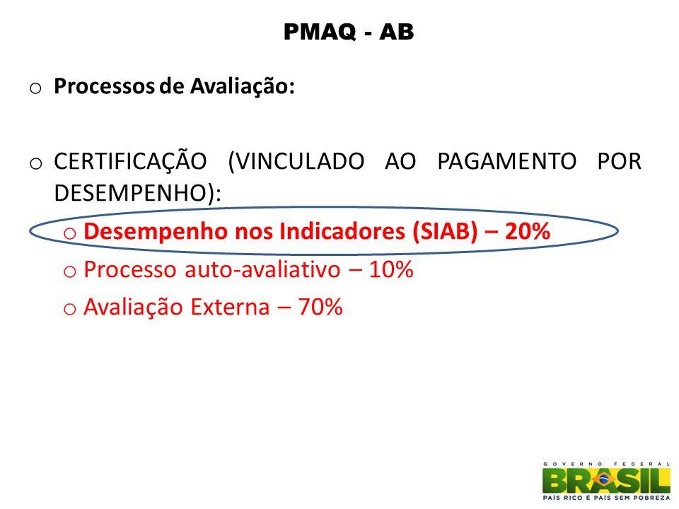 CERTIFICAÇÃO (VINCULADO AO PAGAMENTO POR DESEMPENHO):
