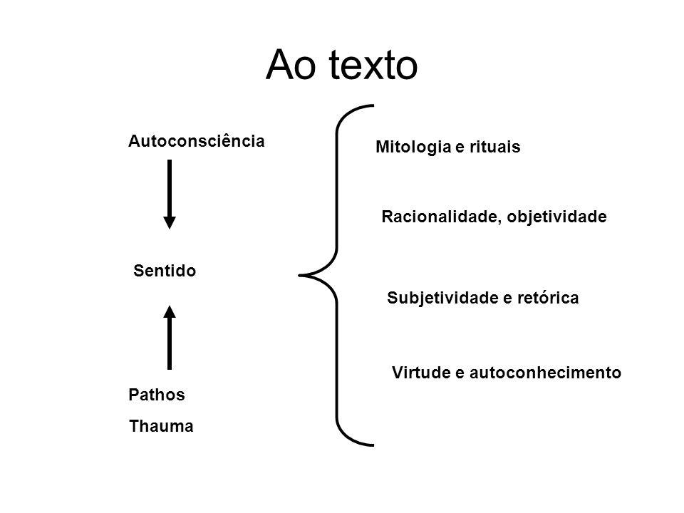 Ao texto Autoconsciência Mitologia e rituais