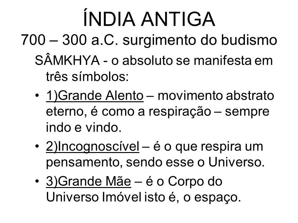 ÍNDIA ANTIGA 700 – 300 a.C. surgimento do budismo