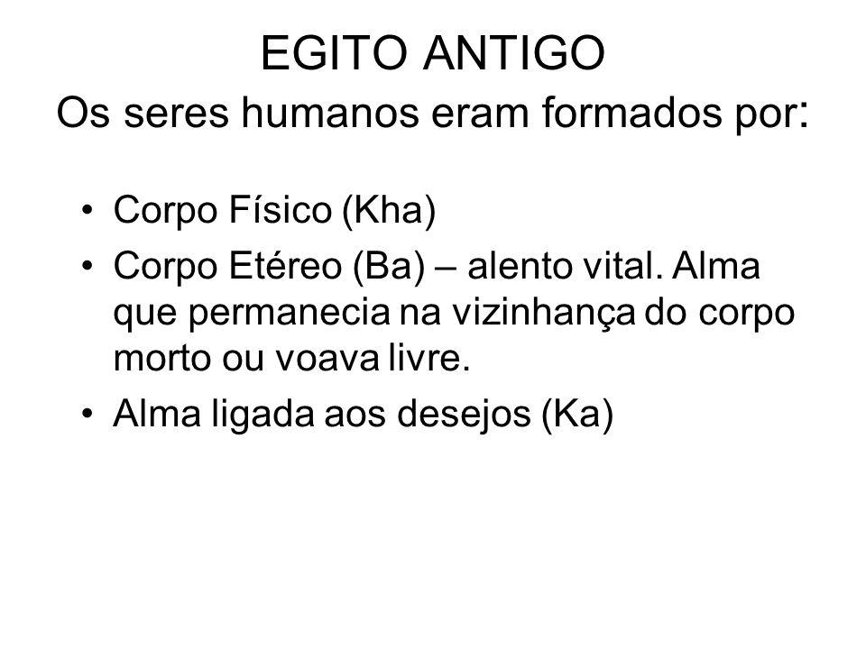 EGITO ANTIGO Os seres humanos eram formados por: