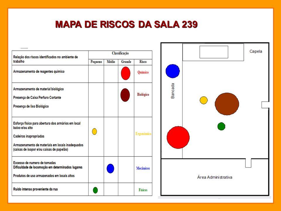 MAPA DE RISCOS DA SALA 239