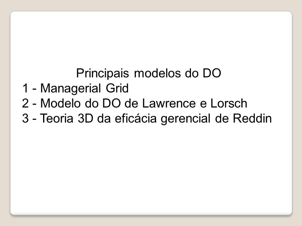 Principais modelos do DO