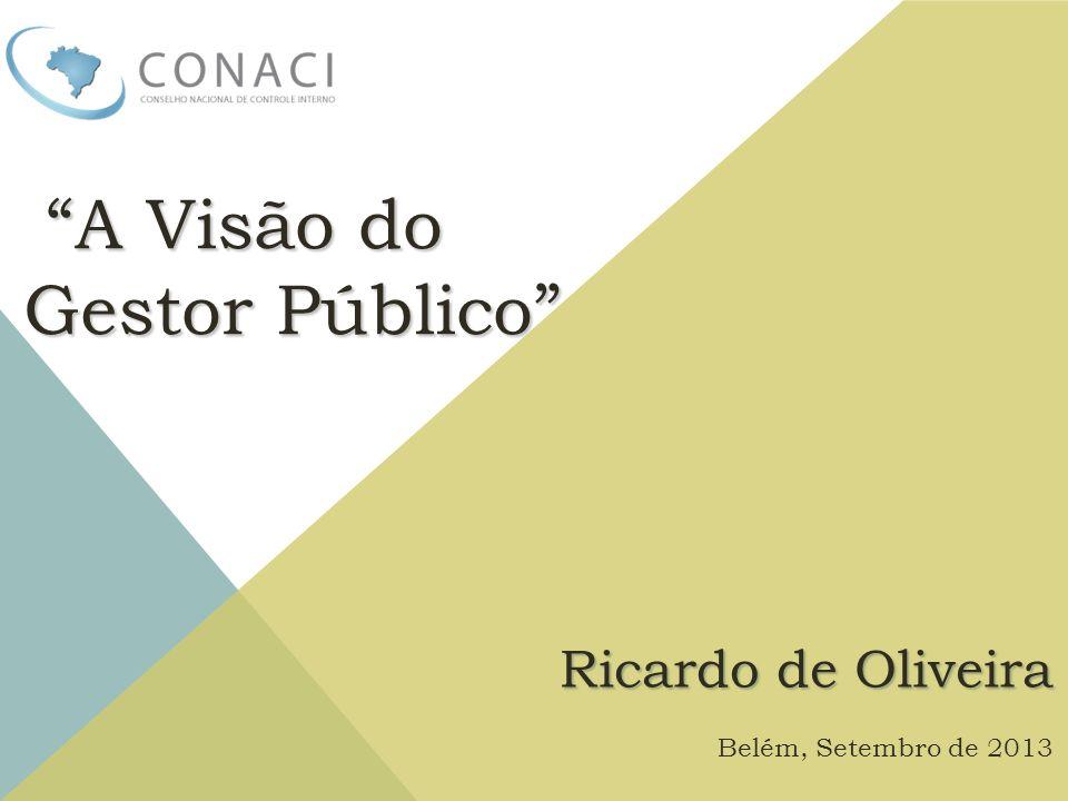 A Visão do Gestor Público Ricardo de Oliveira