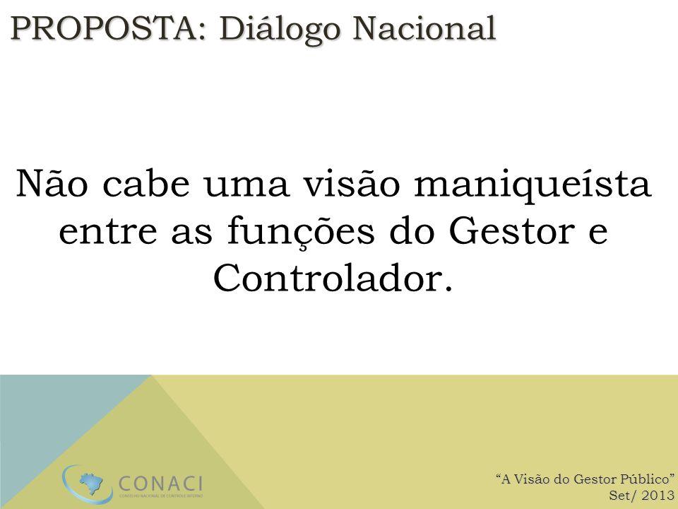 PROPOSTA: Diálogo Nacional