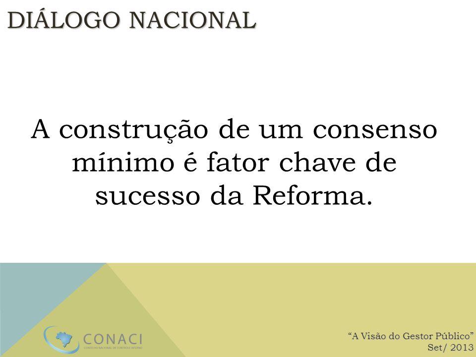 A construção de um consenso mínimo é fator chave de