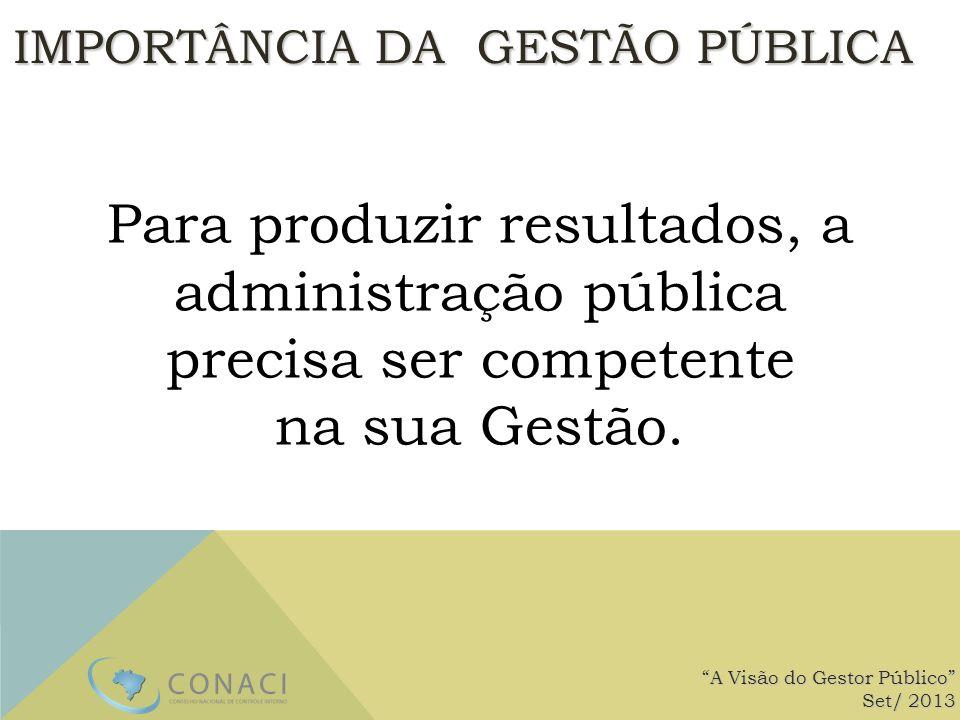 Para produzir resultados, a administração pública