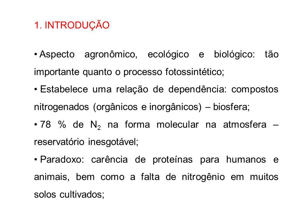 1. INTRODUÇÃO Aspecto agronômico, ecológico e biológico: tão importante quanto o processo fotossintético;