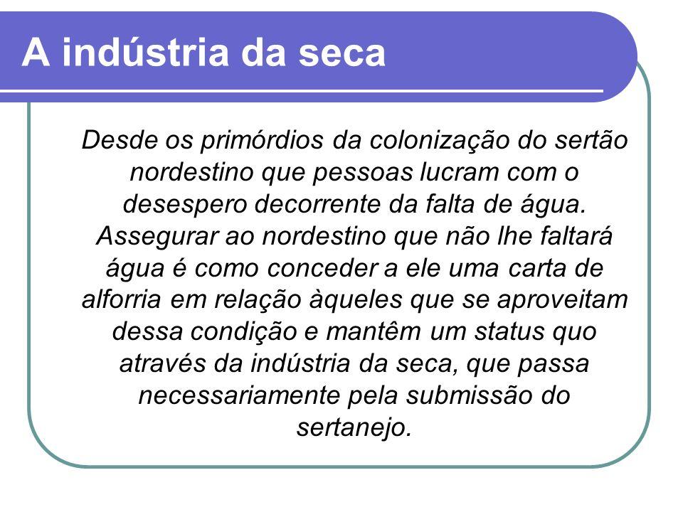 A indústria da seca