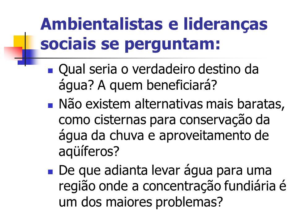 Ambientalistas e lideranças sociais se perguntam: