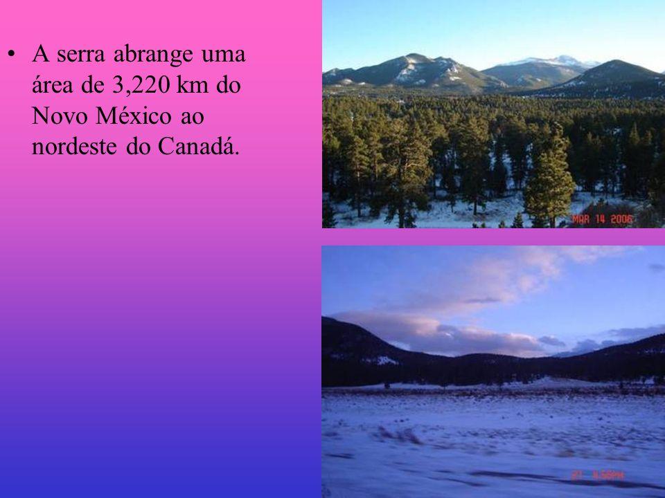 A serra abrange uma área de 3,220 km do Novo México ao nordeste do Canadá.