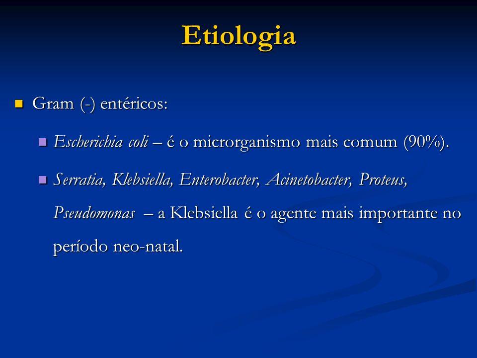 Etiologia Gram (-) entéricos: