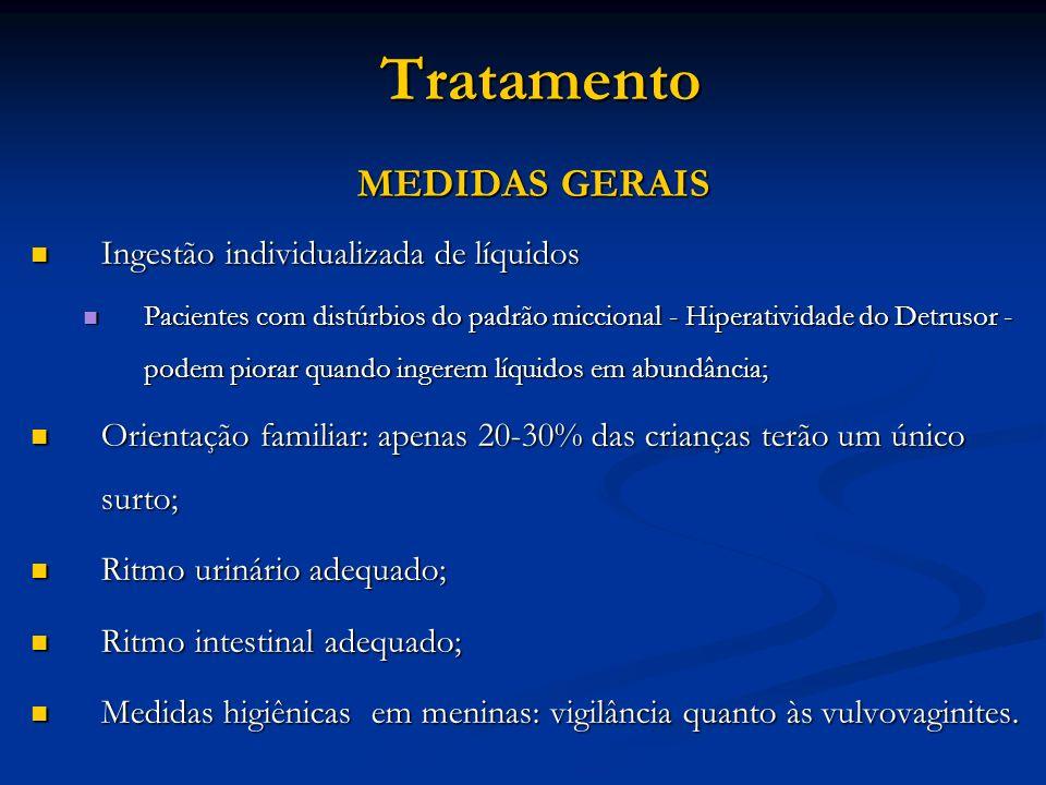 Tratamento MEDIDAS GERAIS Ingestão individualizada de líquidos