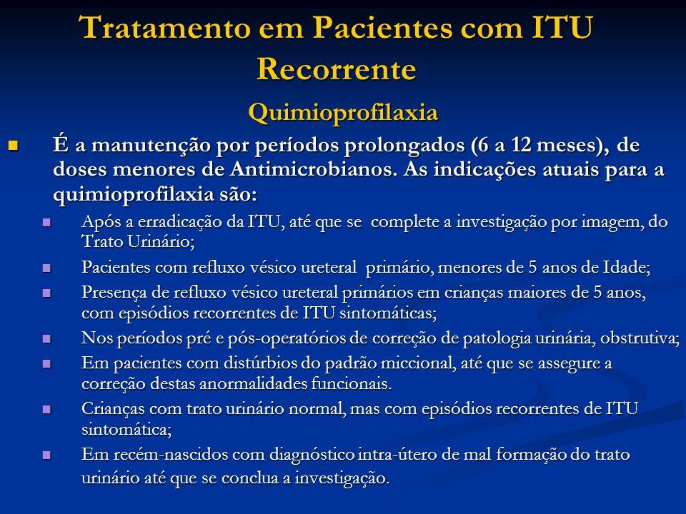 Tratamento em Pacientes com ITU Recorrente