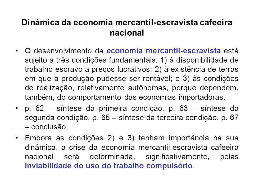 Dinâmica da economia mercantil-escravista cafeeira nacional