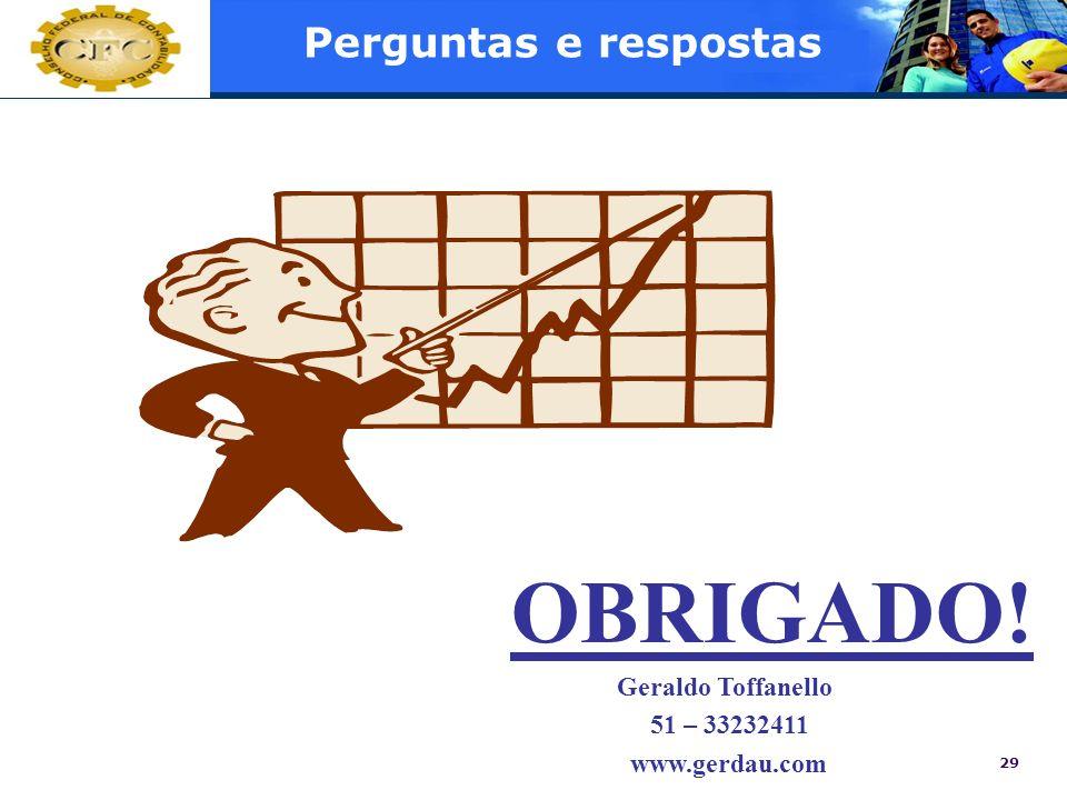 OBRIGADO! Perguntas e respostas 51 – 33232411 www.gerdau.com