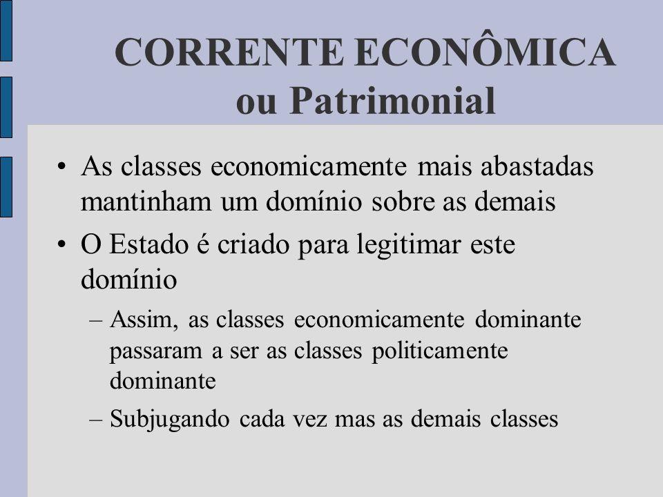 CORRENTE ECONÔMICA ou Patrimonial