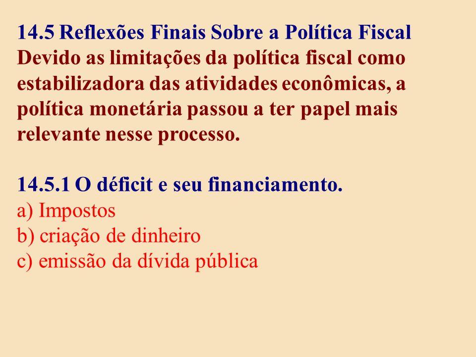 14.5 Reflexões Finais Sobre a Política Fiscal