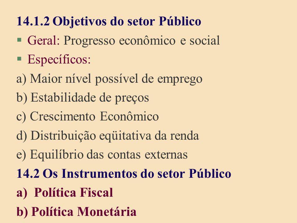 14.1.2 Objetivos do setor Público