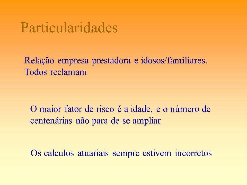 Particularidades Relação empresa prestadora e idosos/familiares.