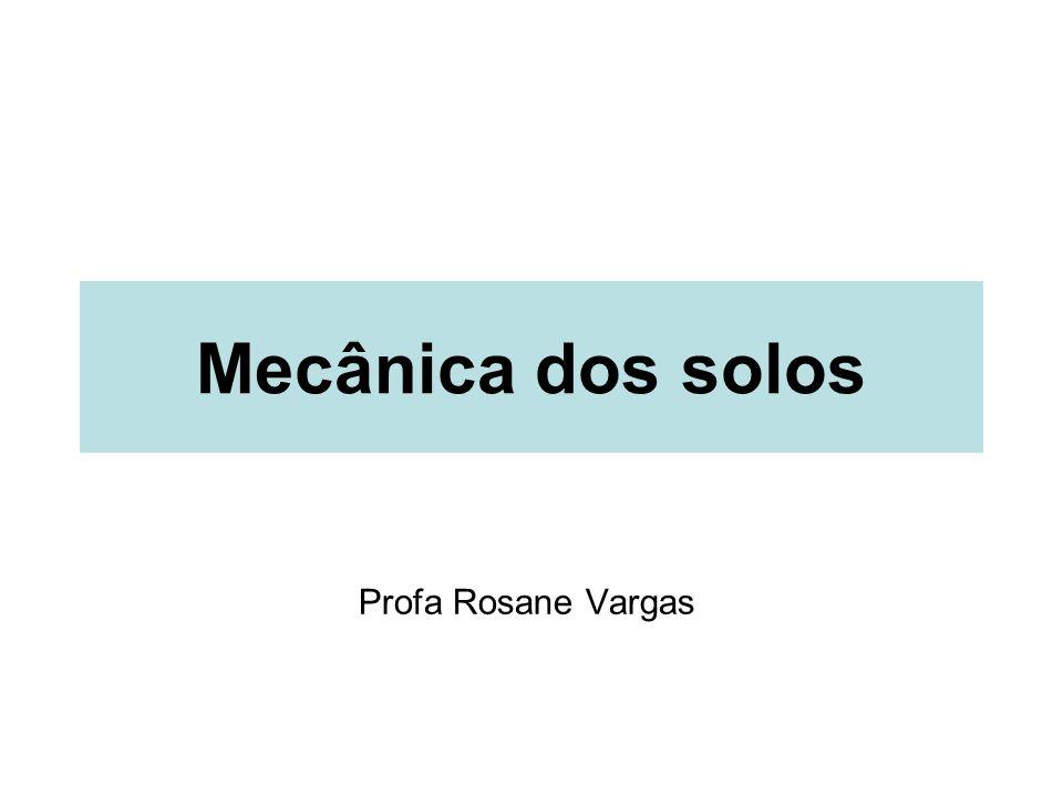 Mecânica dos solos Profa Rosane Vargas