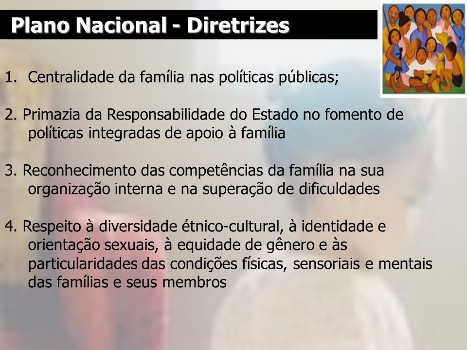 Plano Nacional - Diretrizes